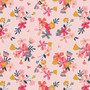 Flowers Main Pink from the Golden Aster collection by Riley Blake Designs. 100% Lightweight Cotton