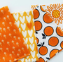 Oranges Orange 90296-56 from the Squeeze collection by Figo Fabrics. 100% Cotton Fabric
