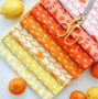 Cones Orange 90301-56 from the Squeeze collection by Figo Fabrics. 100% Cotton Fabric