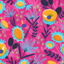 Meadow Hot Pink AILD-20162-110 from the Escargot For It! collection designed by Hello!Lucky for Robert Kaufman. 100% Cotton Fabric