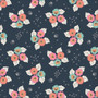 Monsoon Bloom from the Tropical Garden collection by Cloud 9 Fabrics. 100% Certified Organic Cotton Fabric.
