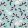 Parrot Play from the Tropical Garden collection by Cloud 9 Fabrics. 100% Certified Organic Cotton Fabric.