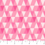 Triangles Pink from the Peppermint collection by Figo Fabrics. 100% Cotton Fabric