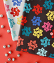 Bows from the Peppermint collection by Figo Fabrics. 100% Cotton Fabric