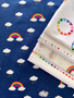 Raindrops Rainbow from the Dream collection by Riley Blake Designs. 100% Lightweight Cotton