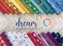 Fat Quarter Selection made using The Dream collection designed by Kristy Lea for Riley Blake Designs. 100% Lightweight Cotton (Image Credit: Kristy Lea)