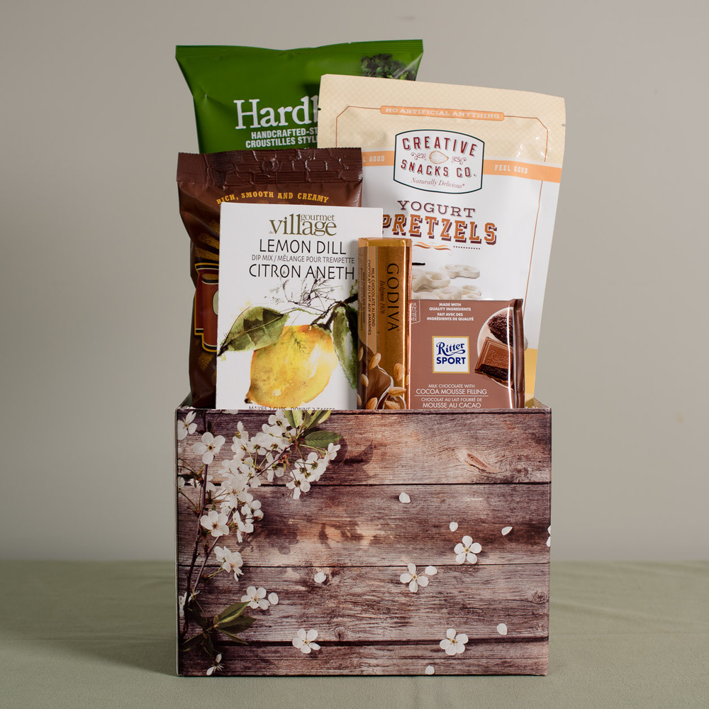 This lovely gift is a perfect balance of both sweet and salty gourmet foods, and is sure to be enjoyed! We think this gift is suitable for many occasions and celebrations, and certainly perfect for the special women in your life on Mother's Day!
