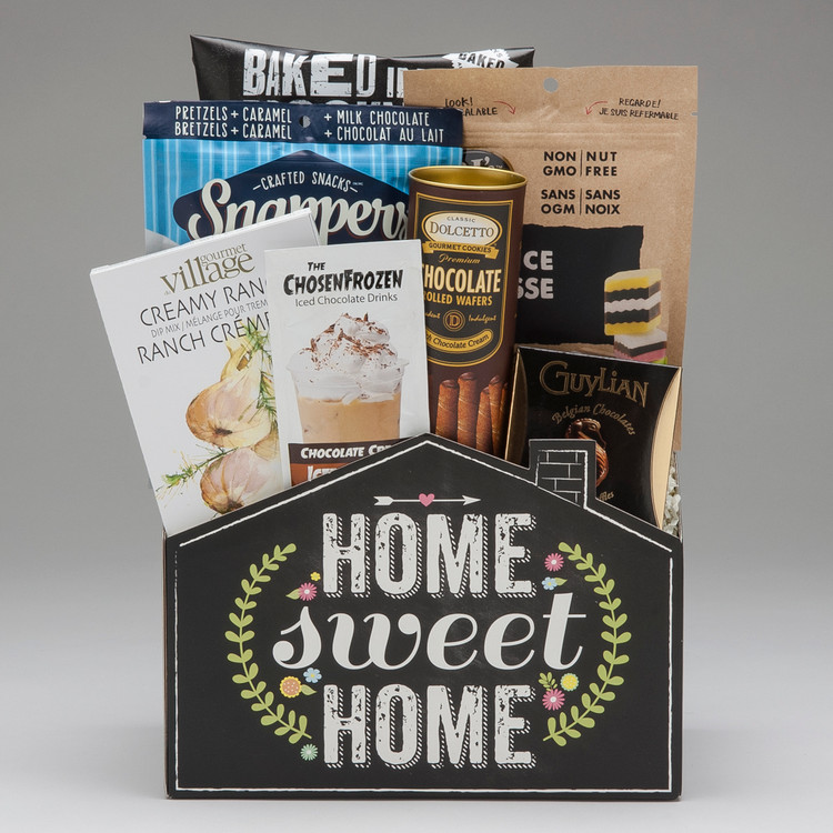 A wonderful way to send your Congratulations to the proud new home owner...this selection of candy, snacks & treats is sure to be enjoyed.