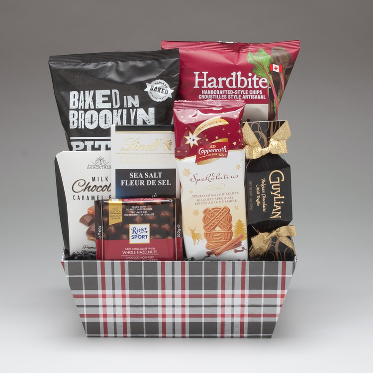 This festive gift is loaded with snacks and treats suitable for a group to share, and features Hardbite Beet Chips (a staff favourite!), and some excellent European chocolate. It is sure to be enjoyed!
