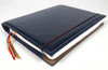 Archie's notebook and leather cover, navy blue
