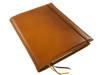 Archie's notebook and leather cover, blalight brownck