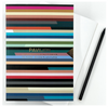 Pavilion A5 buckram embossed notebook, stripes