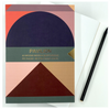 Pavilion A5 buckram embossed notebook, testcard