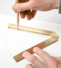 Makers Cabinet Stria brass ruler angles