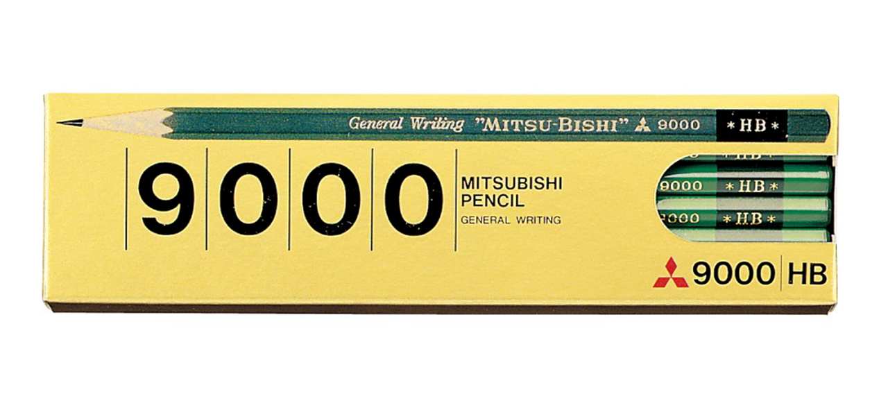 Mitsubishi 9000 HB pencil packaging