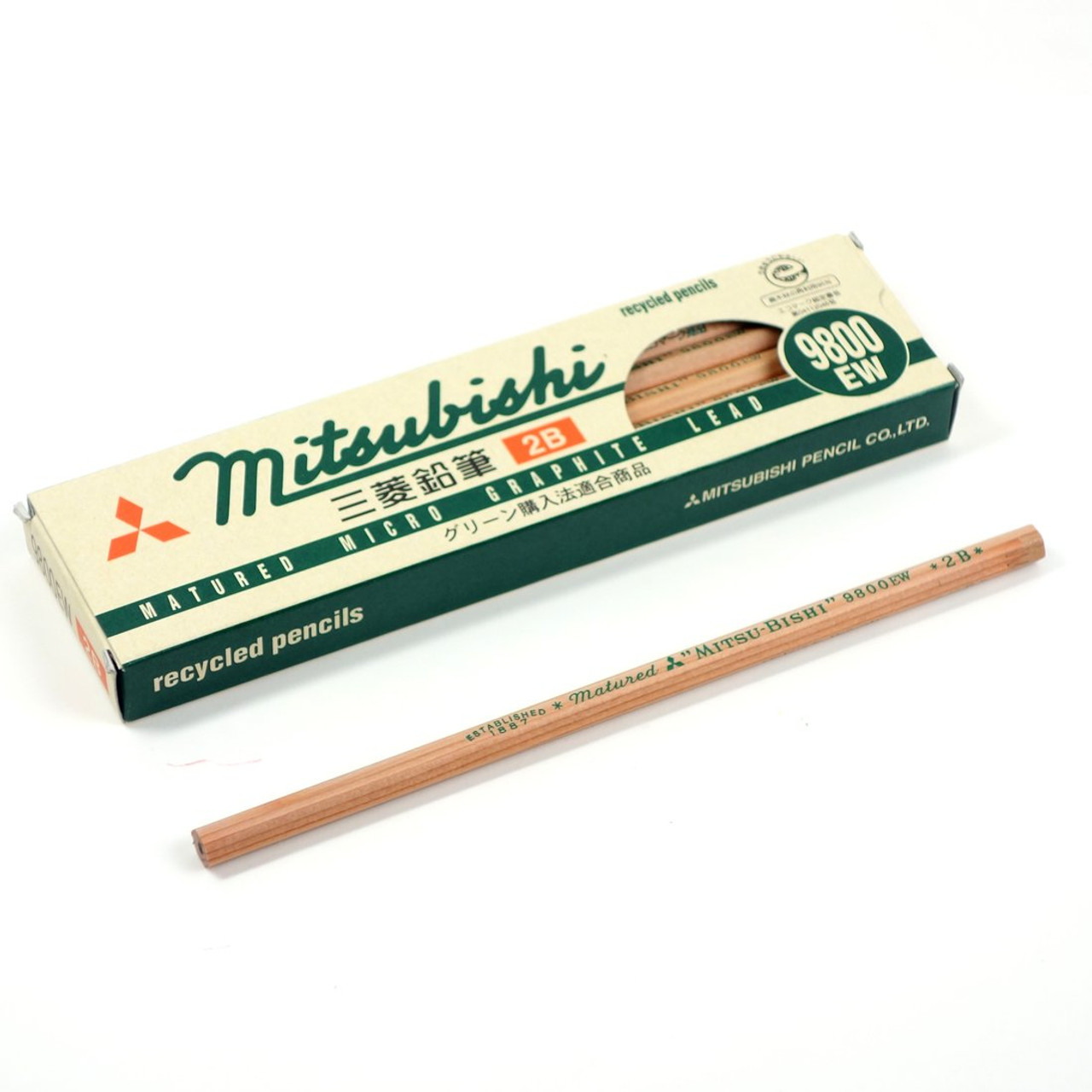 Mitsubishi 9800EW recycled pencil packaging