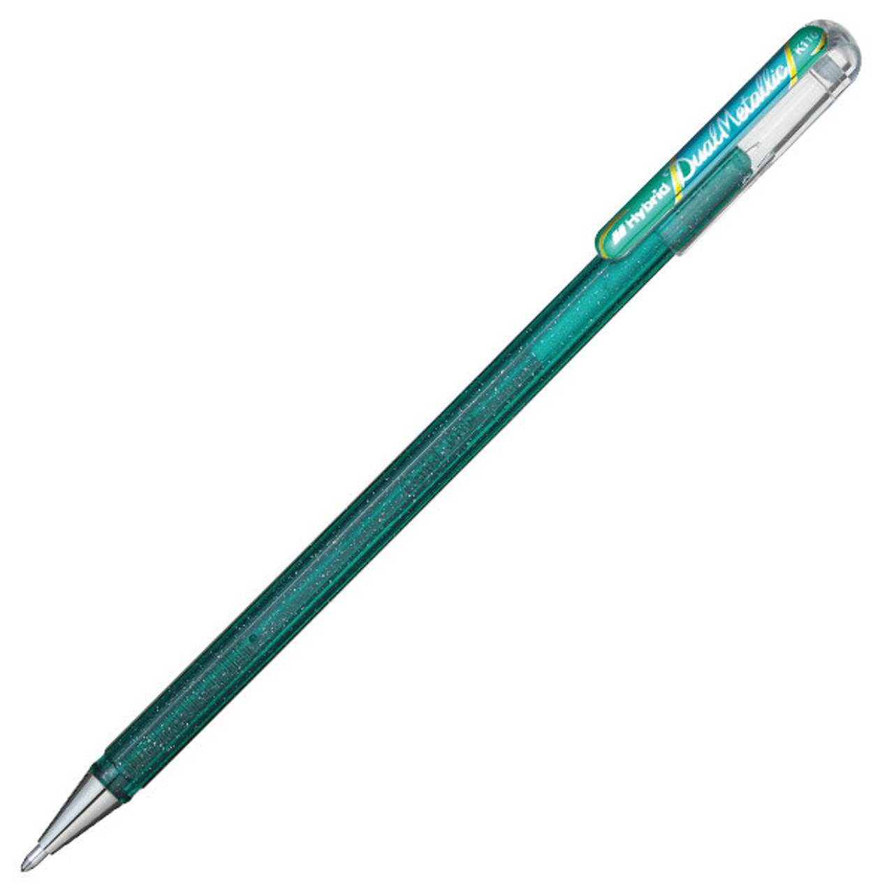Pentel dual metallic pen, - green-blue