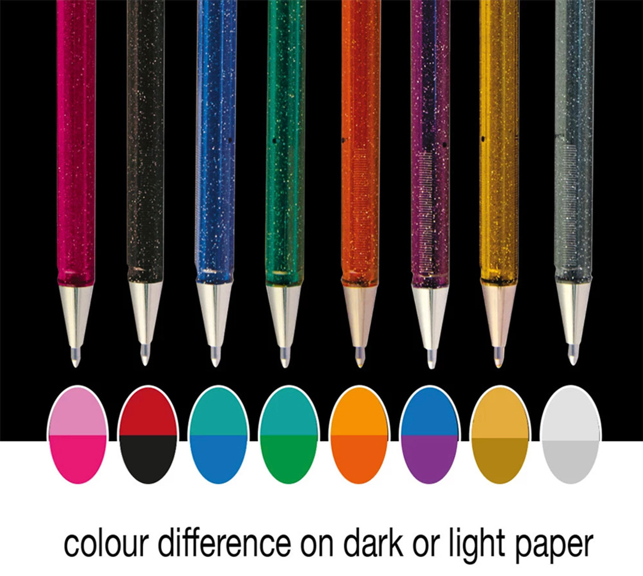 Pentel dual metallic pen colours