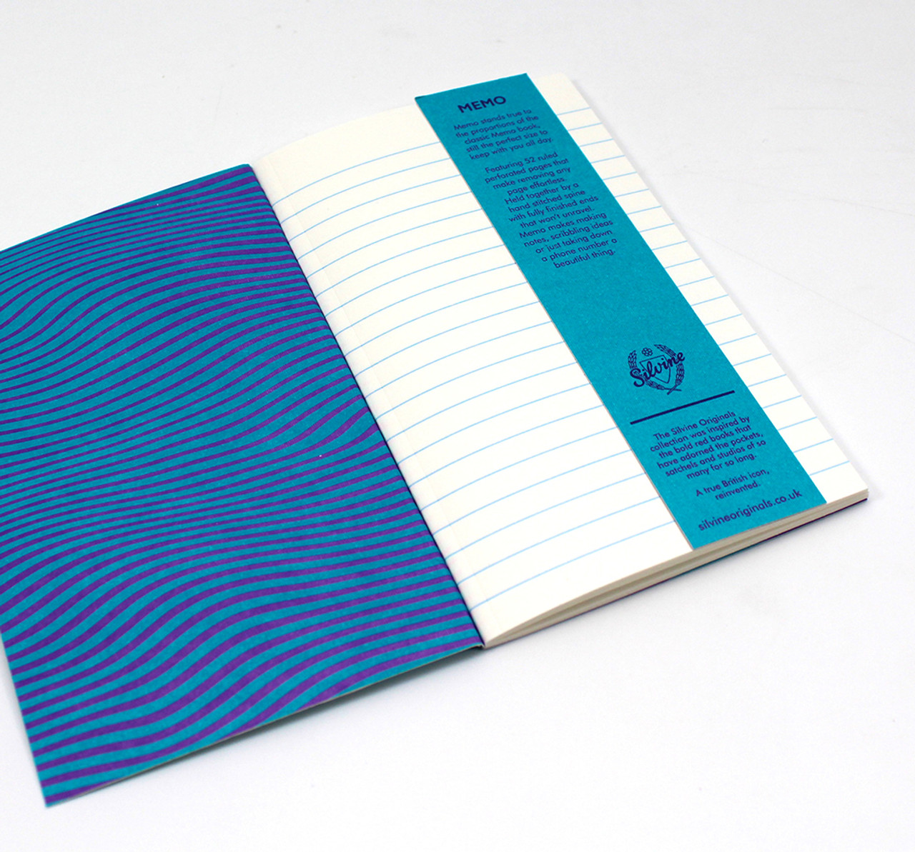 Silvine Original Aurora Memo notebooks inner cover