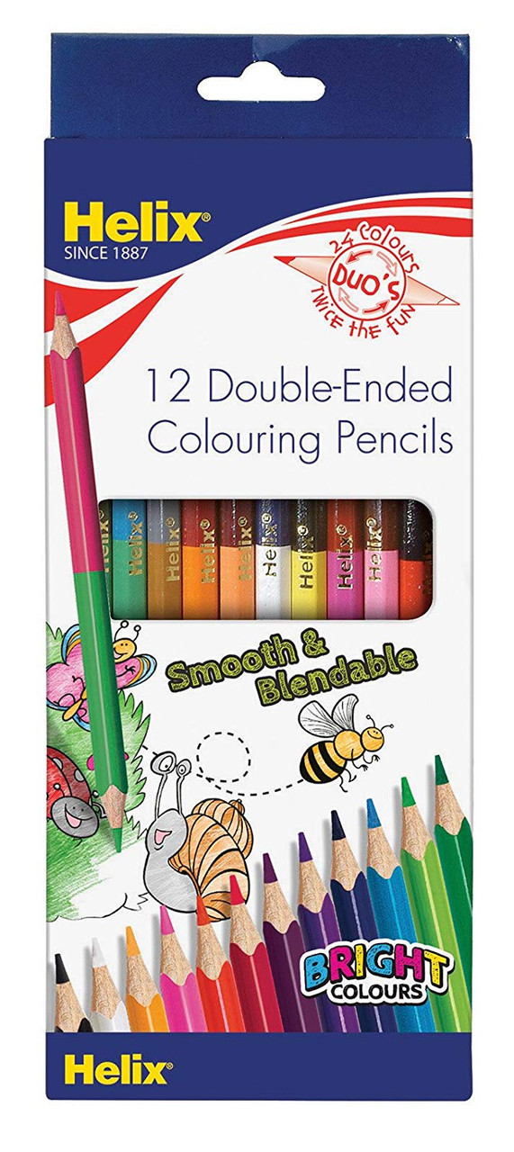 Helix double-ended colouring pencils packaging