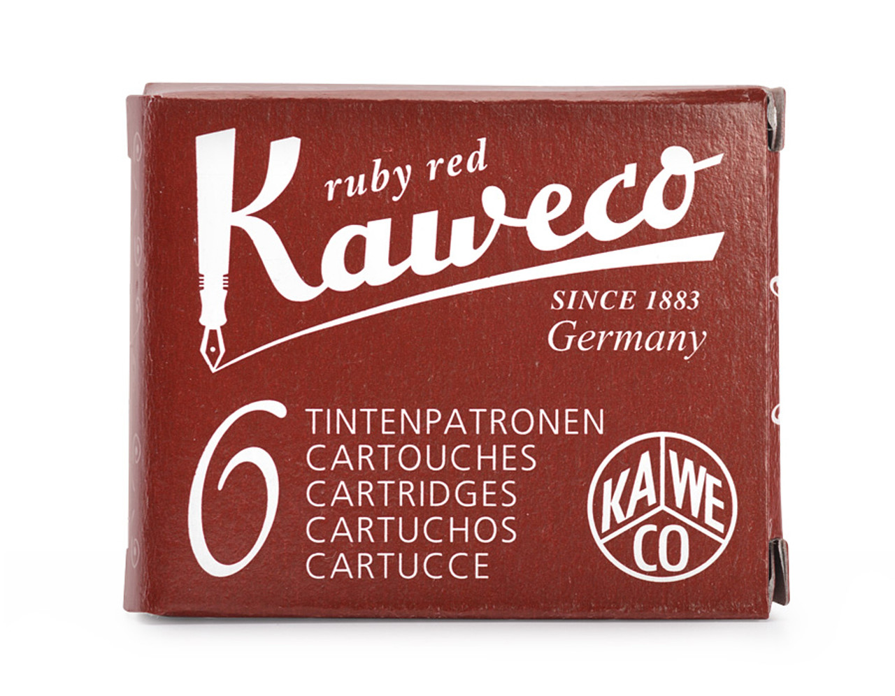 Kaweco ink cartridges, ruby red