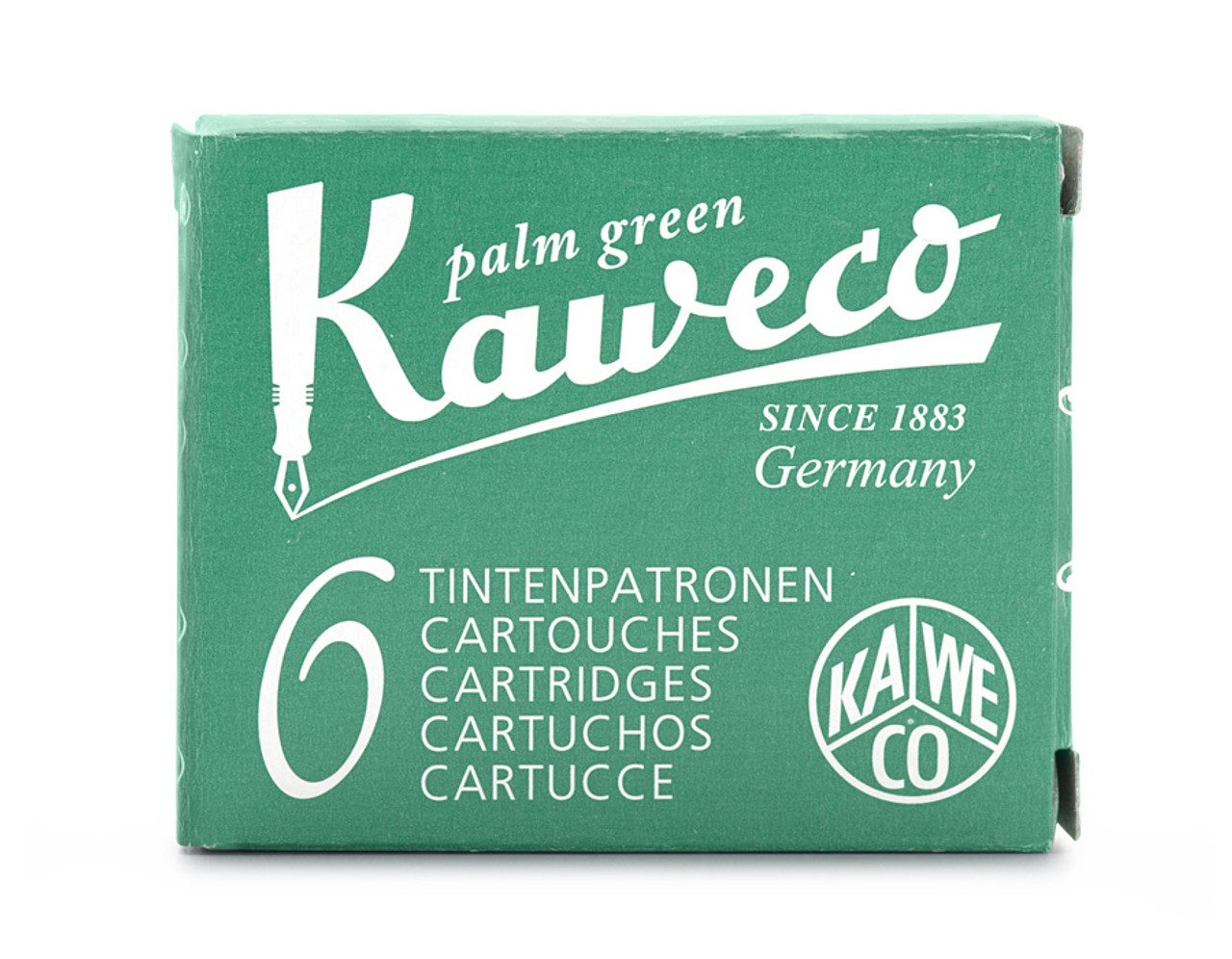 Kaweco ink cartridges, palm green