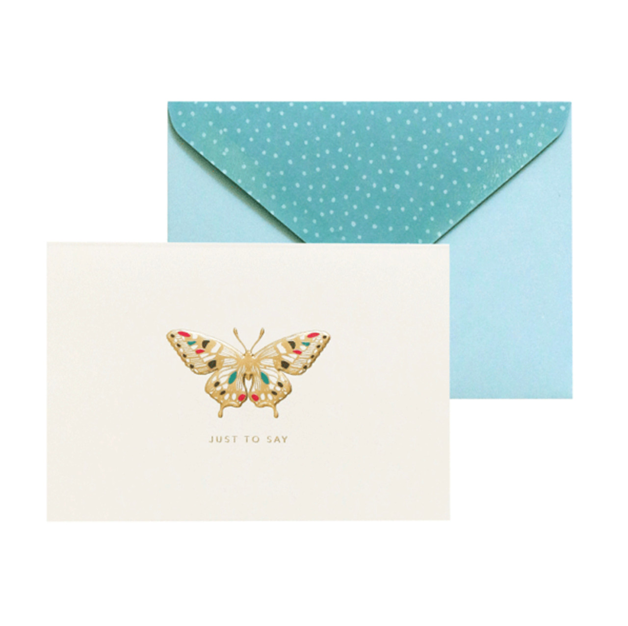 Portico Designs butterfly greetings card and envelope