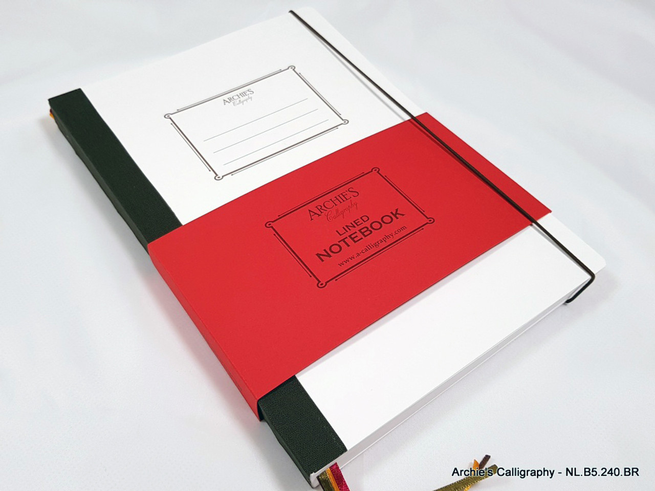 Archie's Calligraphy notebook refill, lined paper
