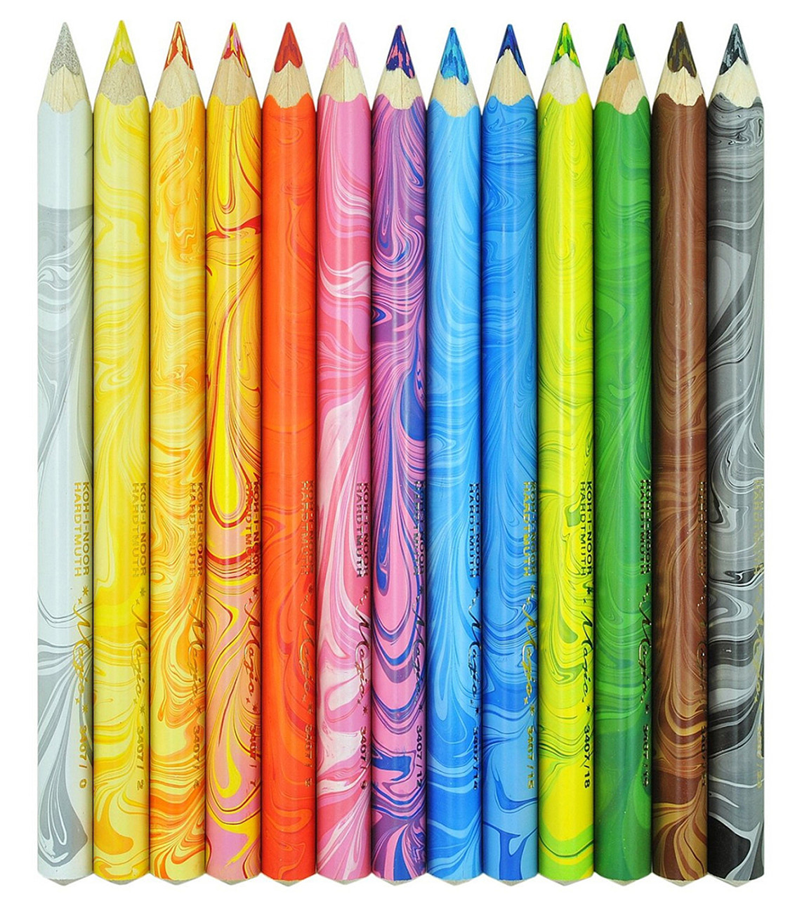 Koh-I-Noor 3408 Magic Jumbo triangular coloured pencils