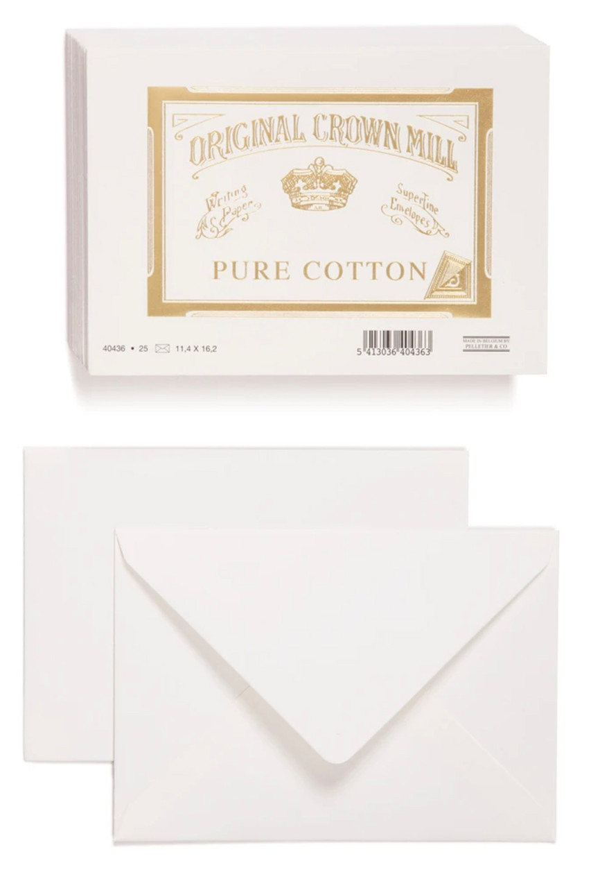 Original Crown Mill pure cotton C6 envelopes