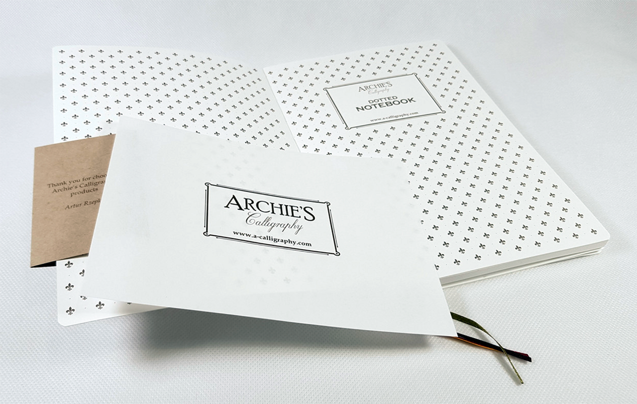 Archie's Calligraphy A5 notebook, blotting paper