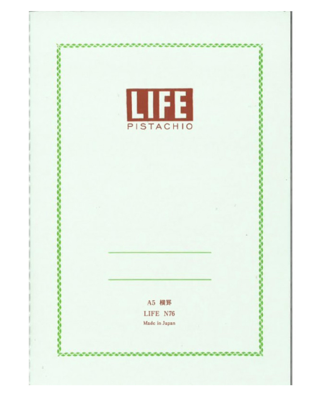 Life Japan Pistachio N76 notebook