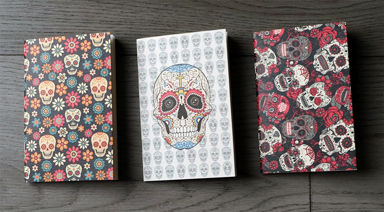 3 Day of the Dead pocket notbooks