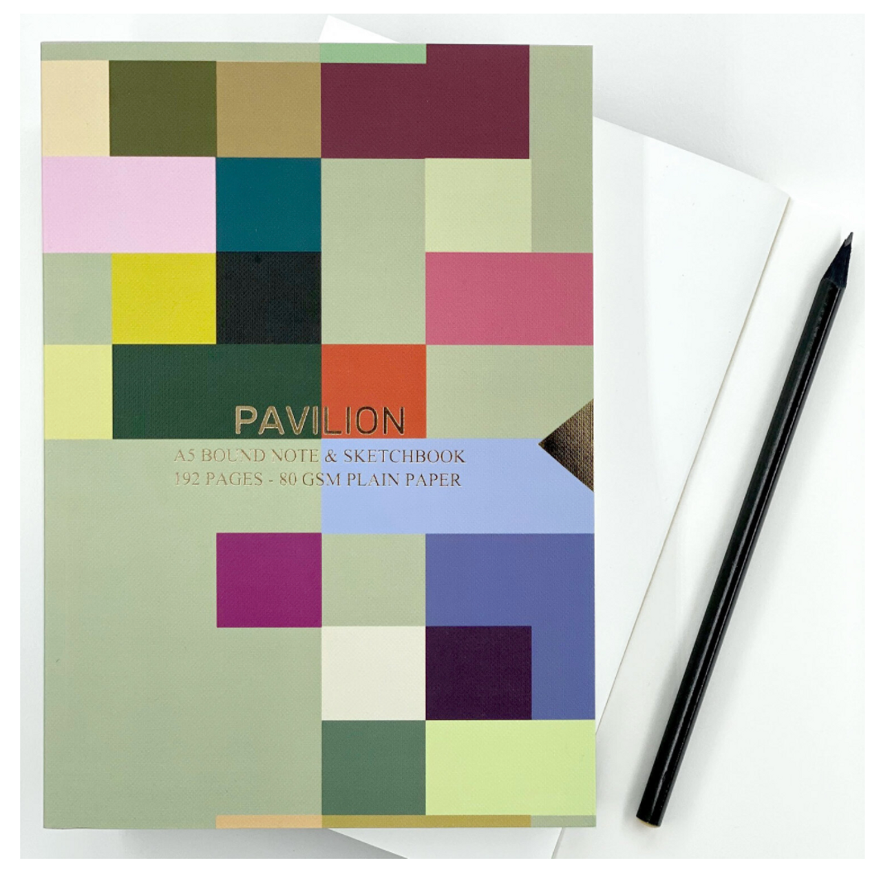 Pavilion A5 buckram embossed notebook, madras