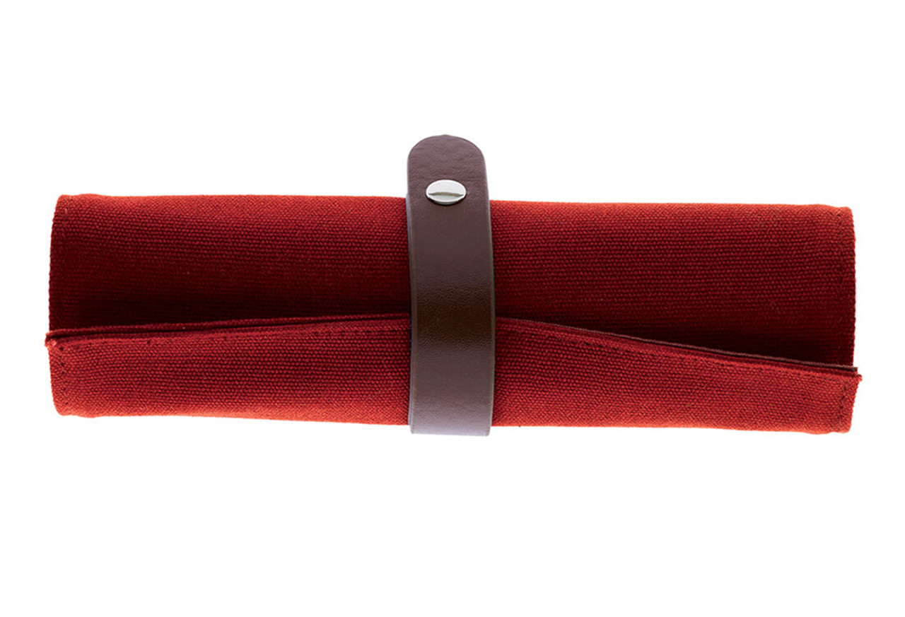 Legami roll up canvas pencil case, red