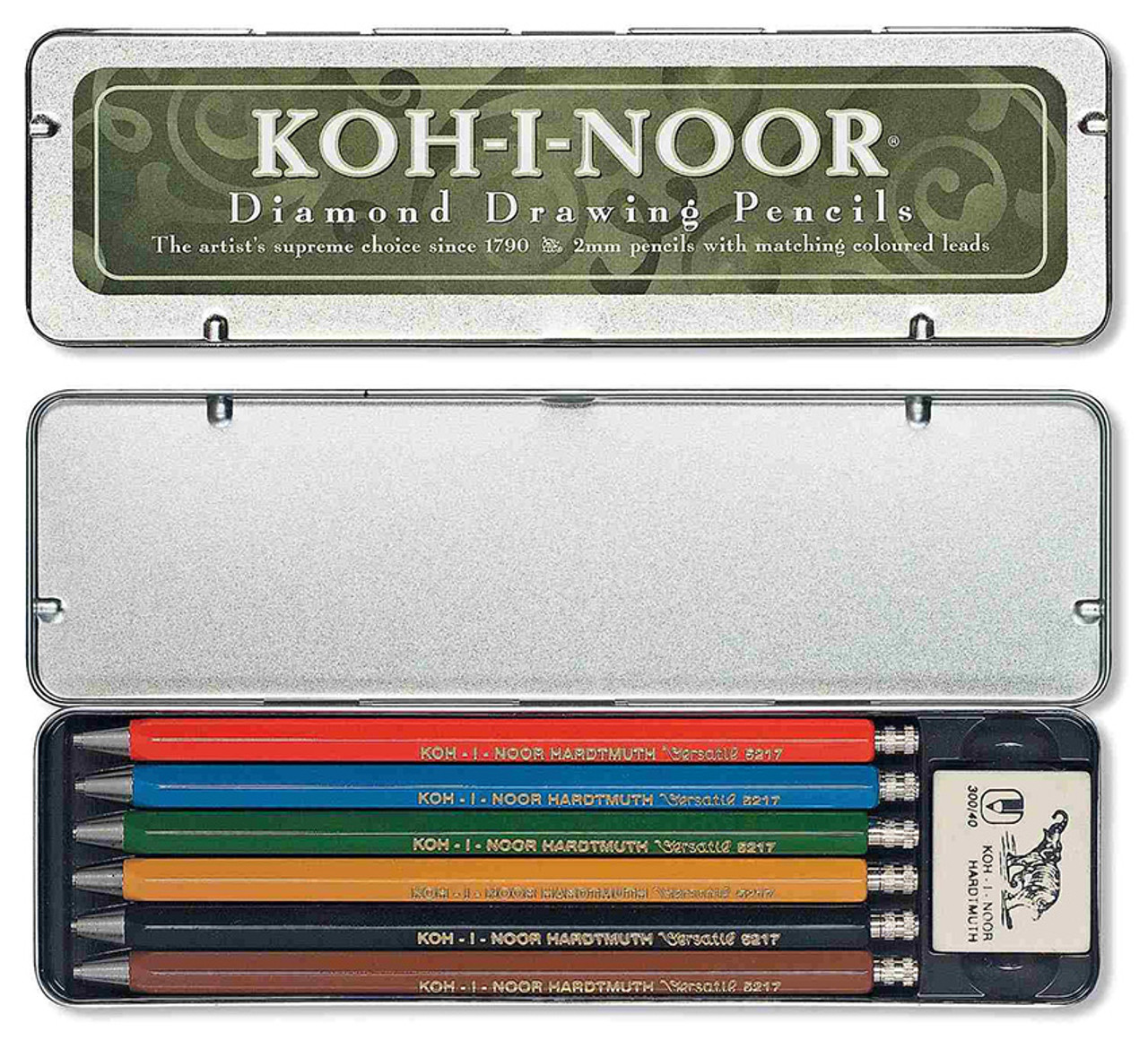 Koh-I-Noor Set of 6 Mechanical Diamond Drawing Pencils 5217