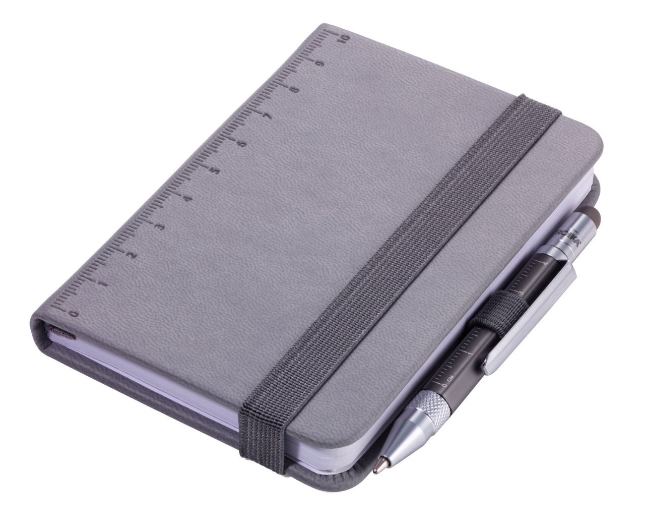 Troika Lilipad notebook and Liliput pen, grey.