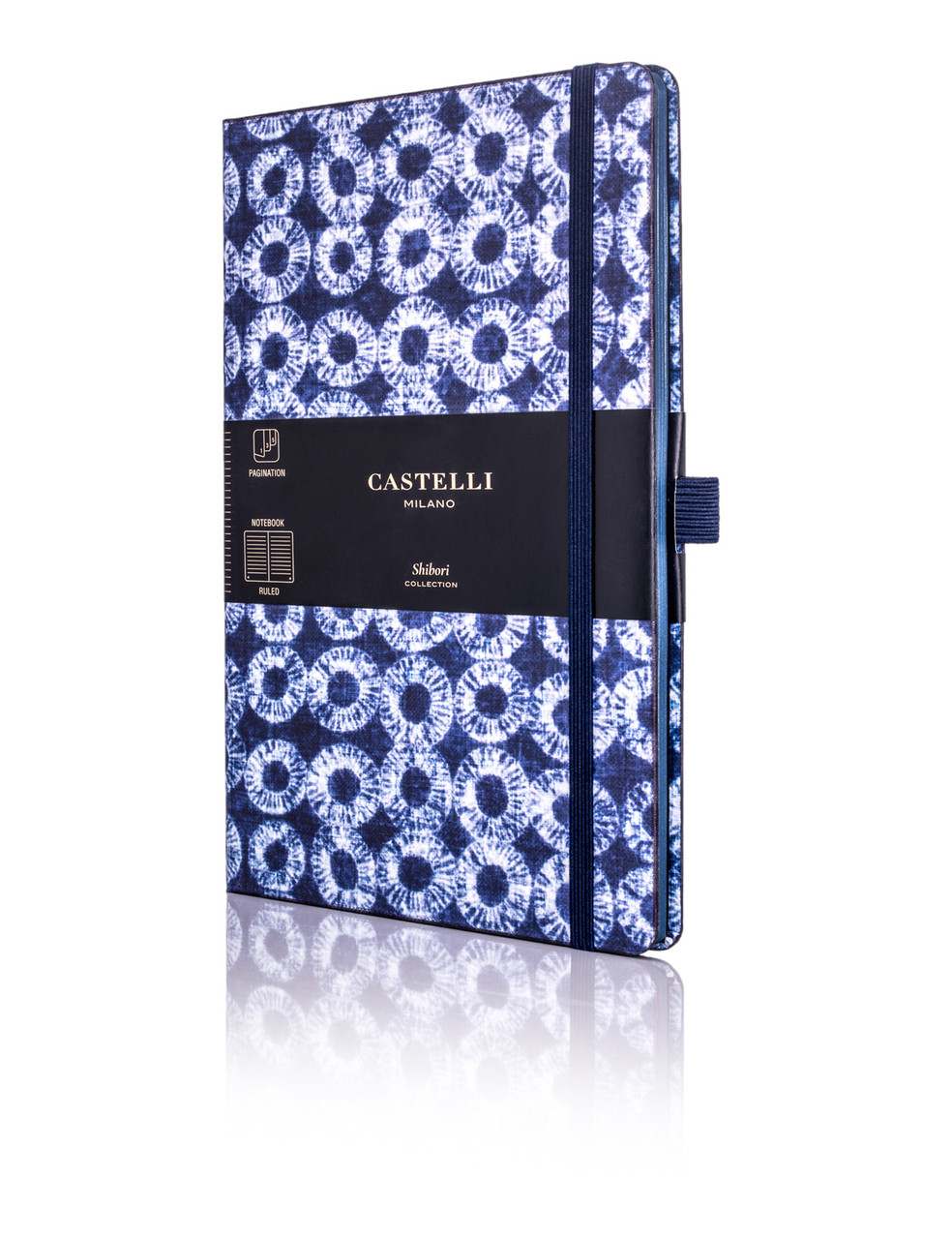 Castelli Shibori notebook, Rings