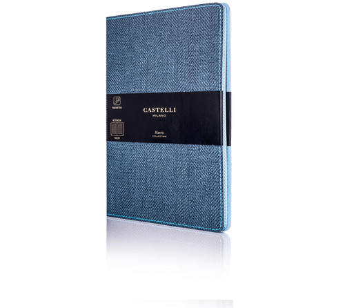 Castelli Harris pocket notebook, slate blue