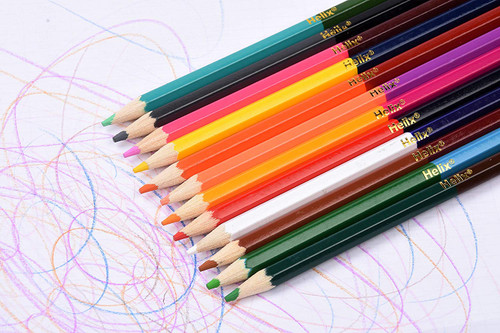 Helix double-ended colouring pencils scribbles
