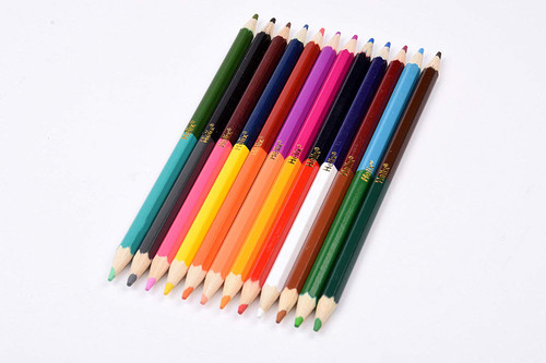 Helix double-ended colouring pencils