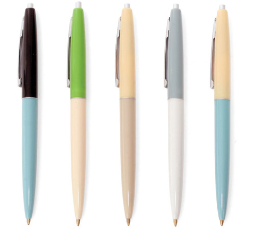Kikkerland retro ballpoint pens, set of 5