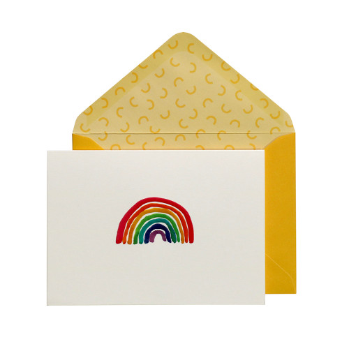Portico Designs Rainbow greetings card and envelope