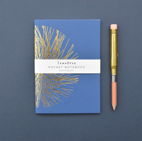 Lonetree Geometrics in Nature notebook, blue