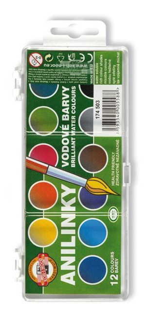 Koh I Noor Anilinky watercolour paints palette