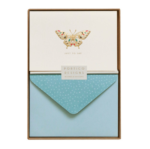 Portico Designs butterfly greetings card set