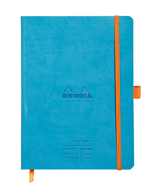 Rhodia Meetings book, turquoise