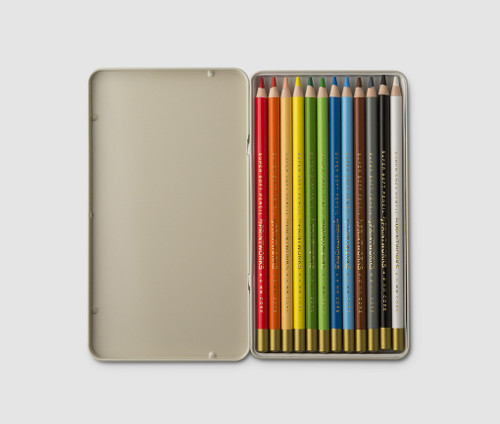 Printworks Classic coloured pencils open