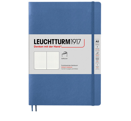 Leuchtturm1917 A5 journals, muted colours, denim