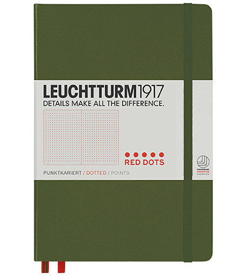 Leuchtturm1917 Red Dot Edition Army